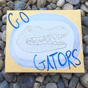 Vintage Other - Hand painted Florida Gators Wall Art Canvas